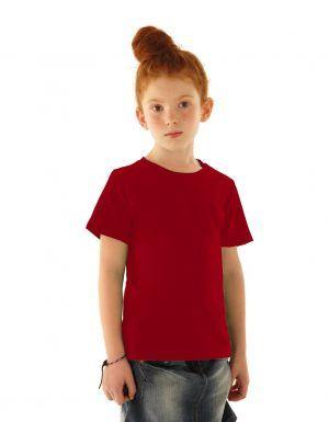 maglietta rossa bambina fronte