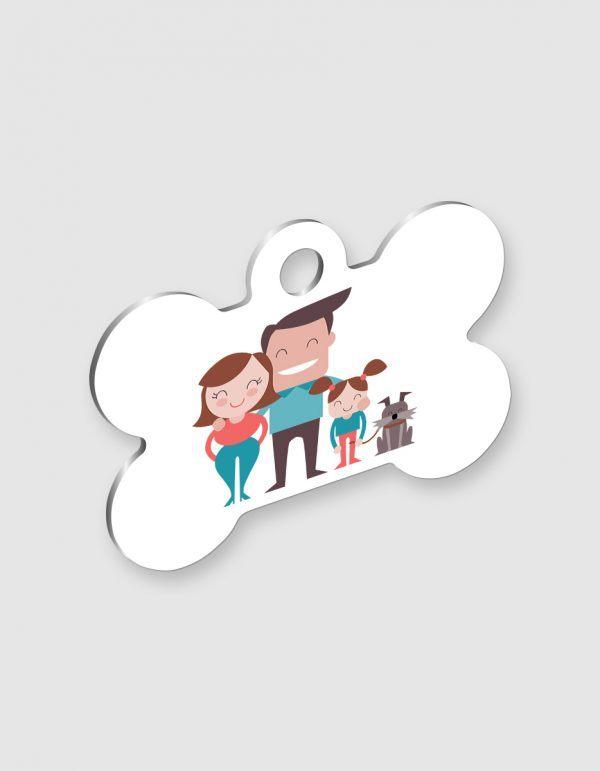 Personalizza una medaglietta per cani con osso