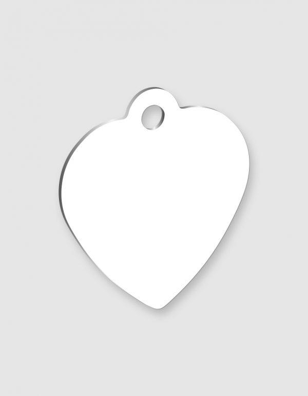 Personalizza medaglietta portachiavi a cuore