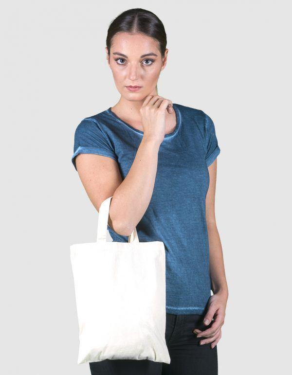 Personalizza mini-shopper cotone ecologico