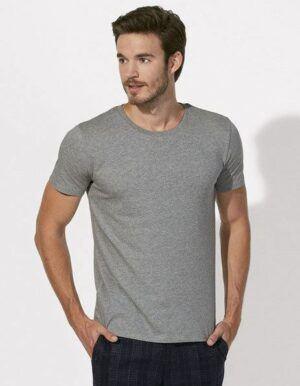 T-shirt personalizzata Bio Stanley stella grigio melange