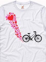 personalizza e stampa t-shirt ciclista romantico