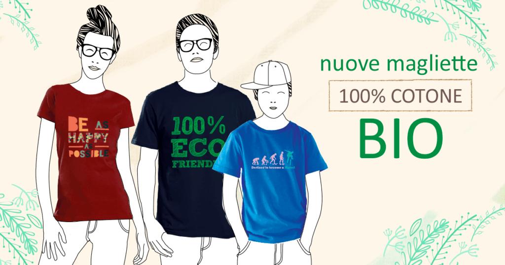 Scegli e personalizza subito la tua t-shirt Bio personalizzata