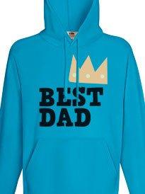 Felpa festa del papà personalizzata con grafica Best Dad