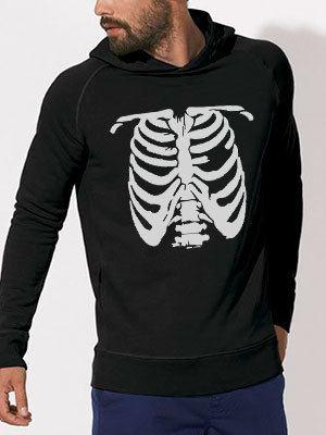 personalizza felpa soft bio scheletro