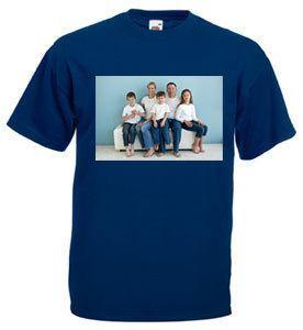 Stampa foto su maglietta scura