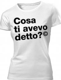 Tshirt Cotone Bio B&C con grafica cosa ti avevo detto