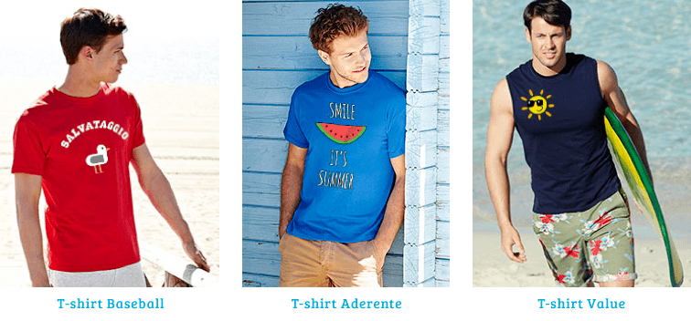 magliette personalizzate per la spiaggia