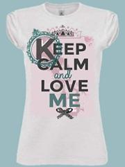 Maglietta keep calm and love