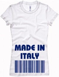T-shirt Donna LONGER Bella con grafica made in italy