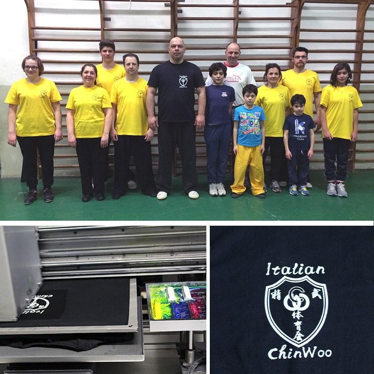 Bei Shaolin con le loro magliette personalizzate