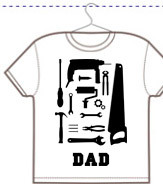Personalizza t-shirt unisex dad tools
