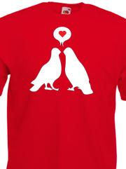 Stampa maglietta Fruit of the Loom personalizzata con grafica San Valentino