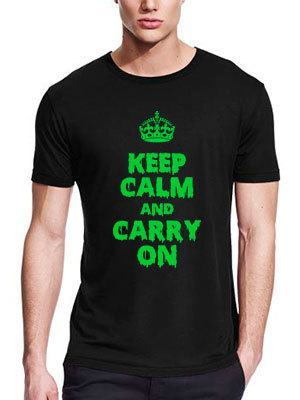 personalizza maglietta keep calm and carry on