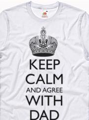 Stampa t-shirt personalizzata con grafica Keep calm dad