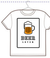 Personalizza t-shirt unisex beer lover