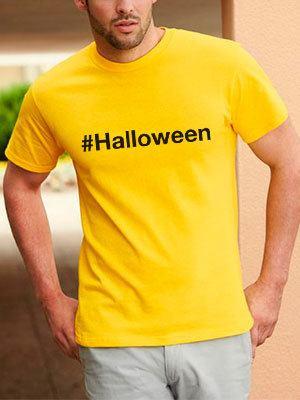 personalizza maglietta hashtag halloween