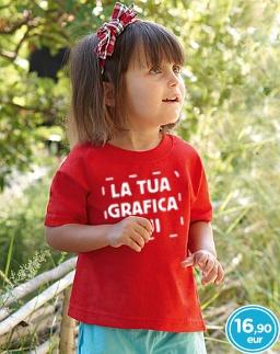 Personalizza maglietta bambino fruit of the loom rossa a 16,90 eur stampa compresa