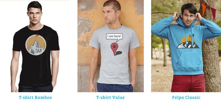 magliette personalizzate estative montagna