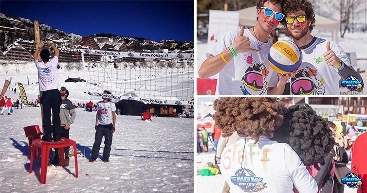 magliette per Snow volley