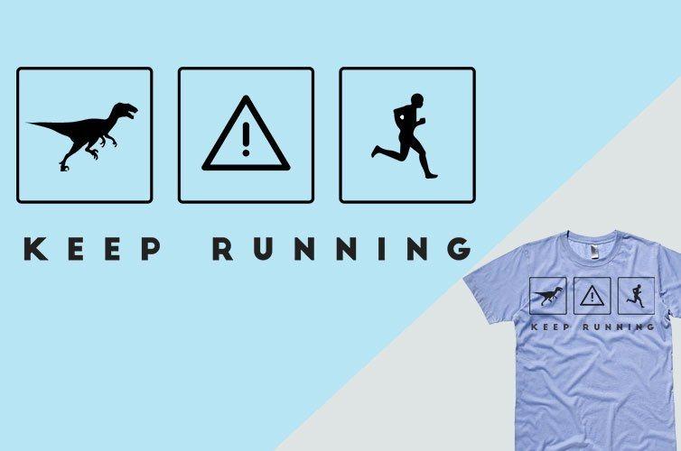 crea magliette per lo sport-corsa