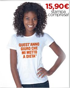 Maglietta personalizzata grafica propositi anno nuovo dieta