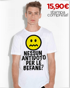 Maglietta personalizzata grafica smile befana