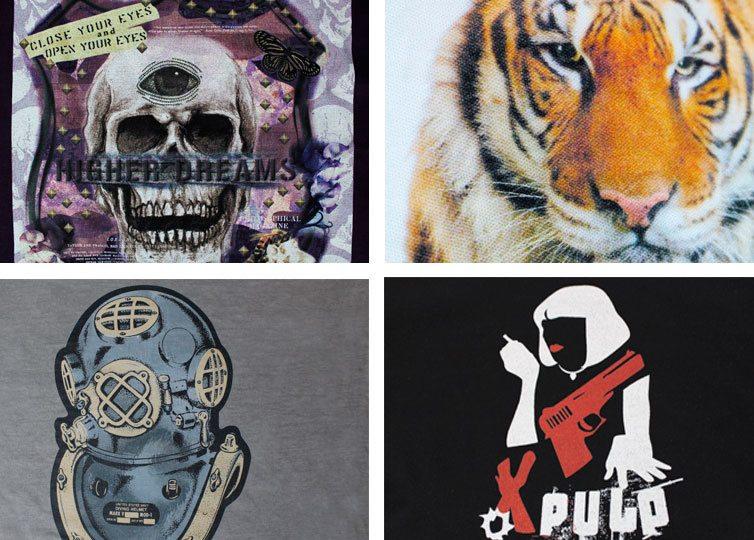alcuni esempi di stampa digitale su t-shirt