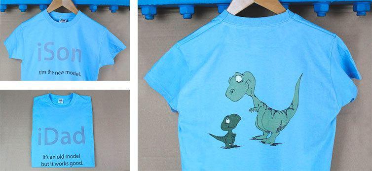 magliette personalizzate papà e bimbo