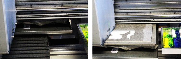 prima fase di stampa digitale