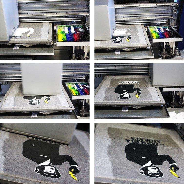 fasi della stampa digitale diretta su tessuto