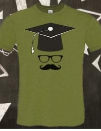 T-shirt per la laurea, modello vintage, grafica hipster