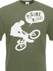 Personalizza T-shirt Unisex Aderente Fruit of the Loom con grafica surf on the road