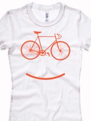 Personalizza T-shirt Femminile Longer Bella con grafica cycle smile