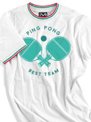 Personalizza T-shirt Unisex Ringer Tricolore Myday con grafica Ping Pong
