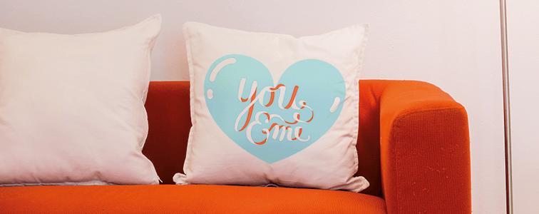 idee originali per san valentino, cuscino