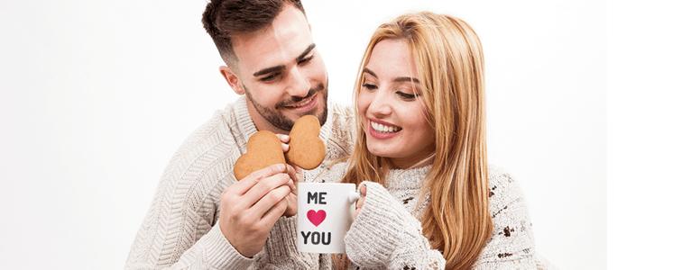 idee originali per san valentino, tazze