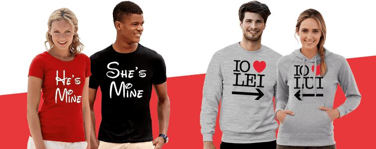 idee originali per San valentino, magliette coordinate