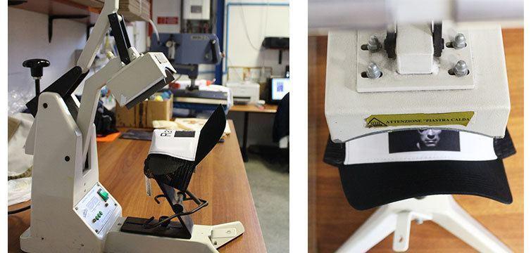 Stampa transfer su cappellino personalizzato