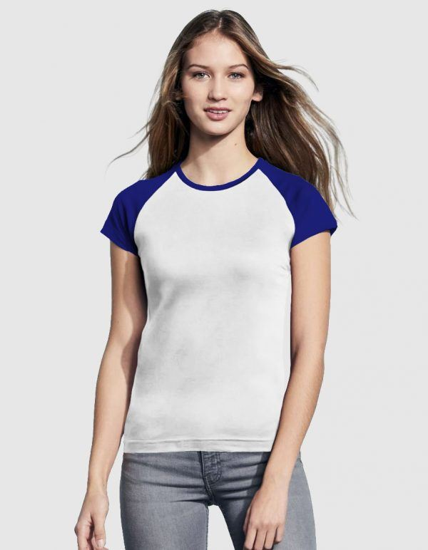 sols-maglietta-baseball-donna-bianco-blu-navy-fronte