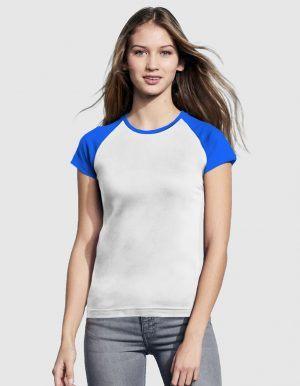 sols-maglietta-baseball-donna-bianco-blu-royal-fronte