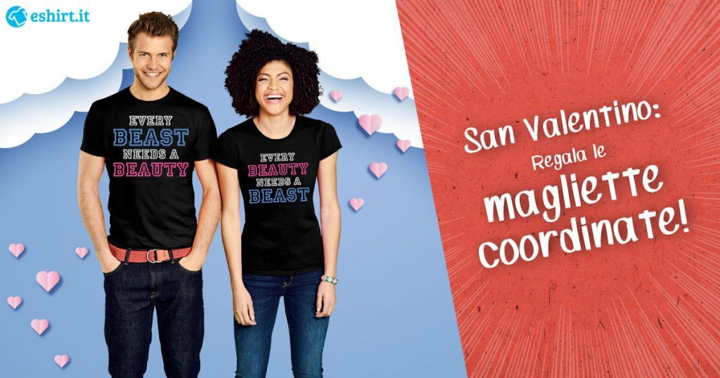 Magliette personalizzate coordinate di coppia