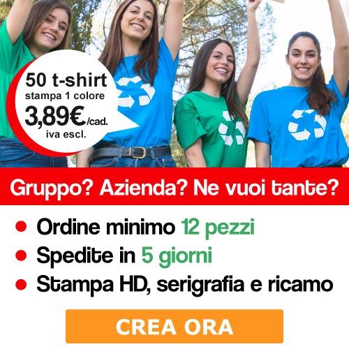 Stampa magliette personalizzate per il tuo gruppo o azienda