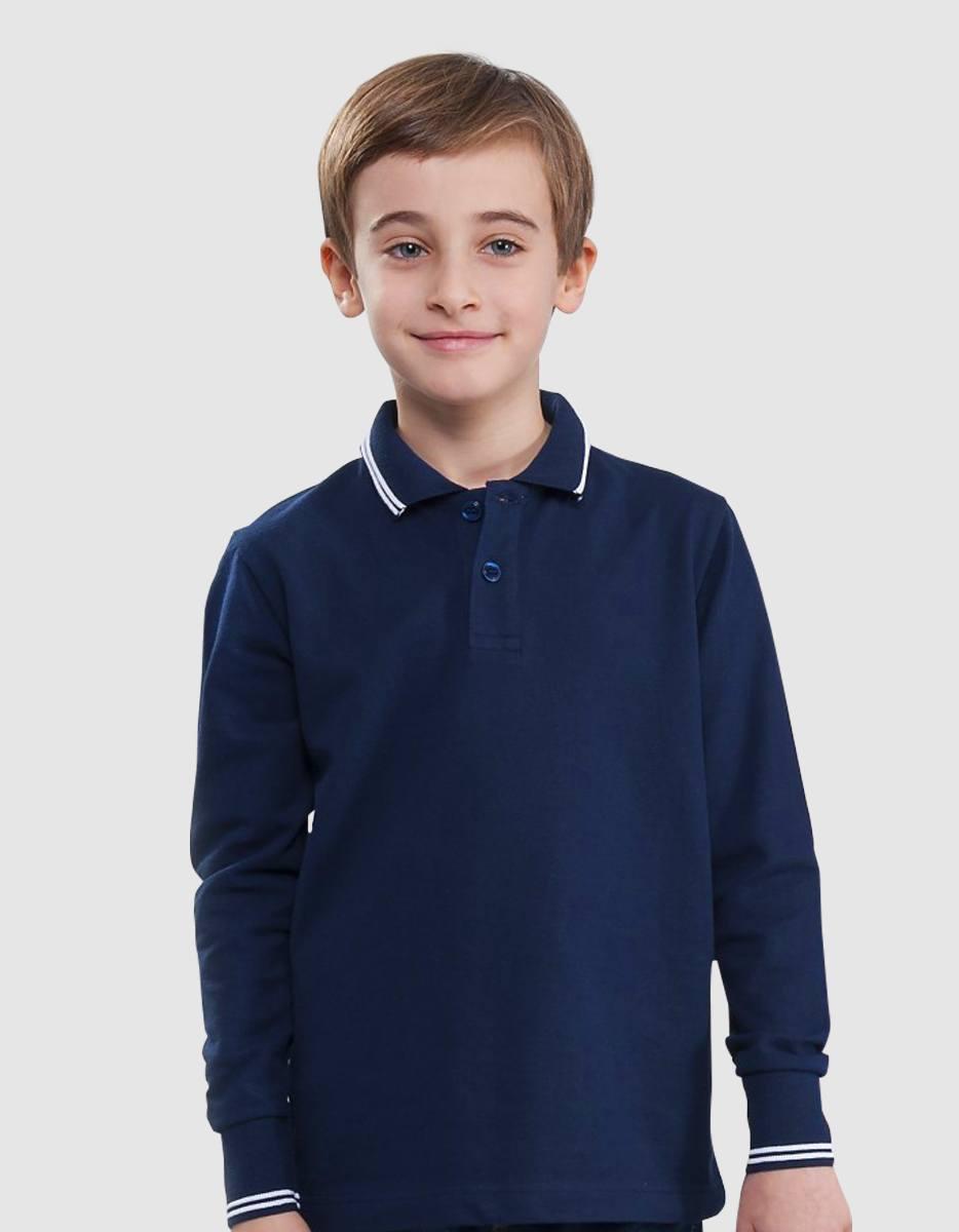 d2f0ec2772bc Polo bambino stripe maniche lunghe 100% Made in Italy | Eshirt.it