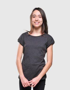 Maglietta bambina in cotone fiammato Made in Italy