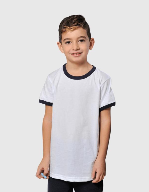 Vesti maglietta bambino bicolore made in italy