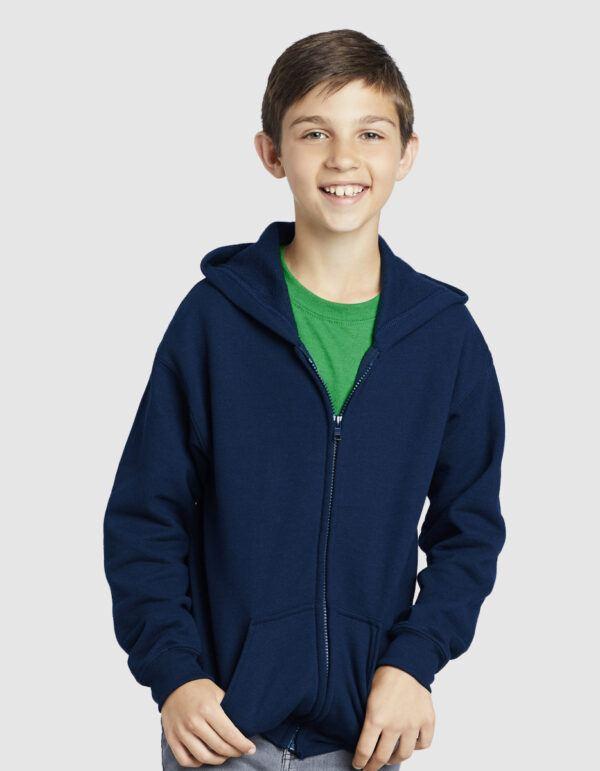 Gildan Heavy Blend Youth Hooded Zip